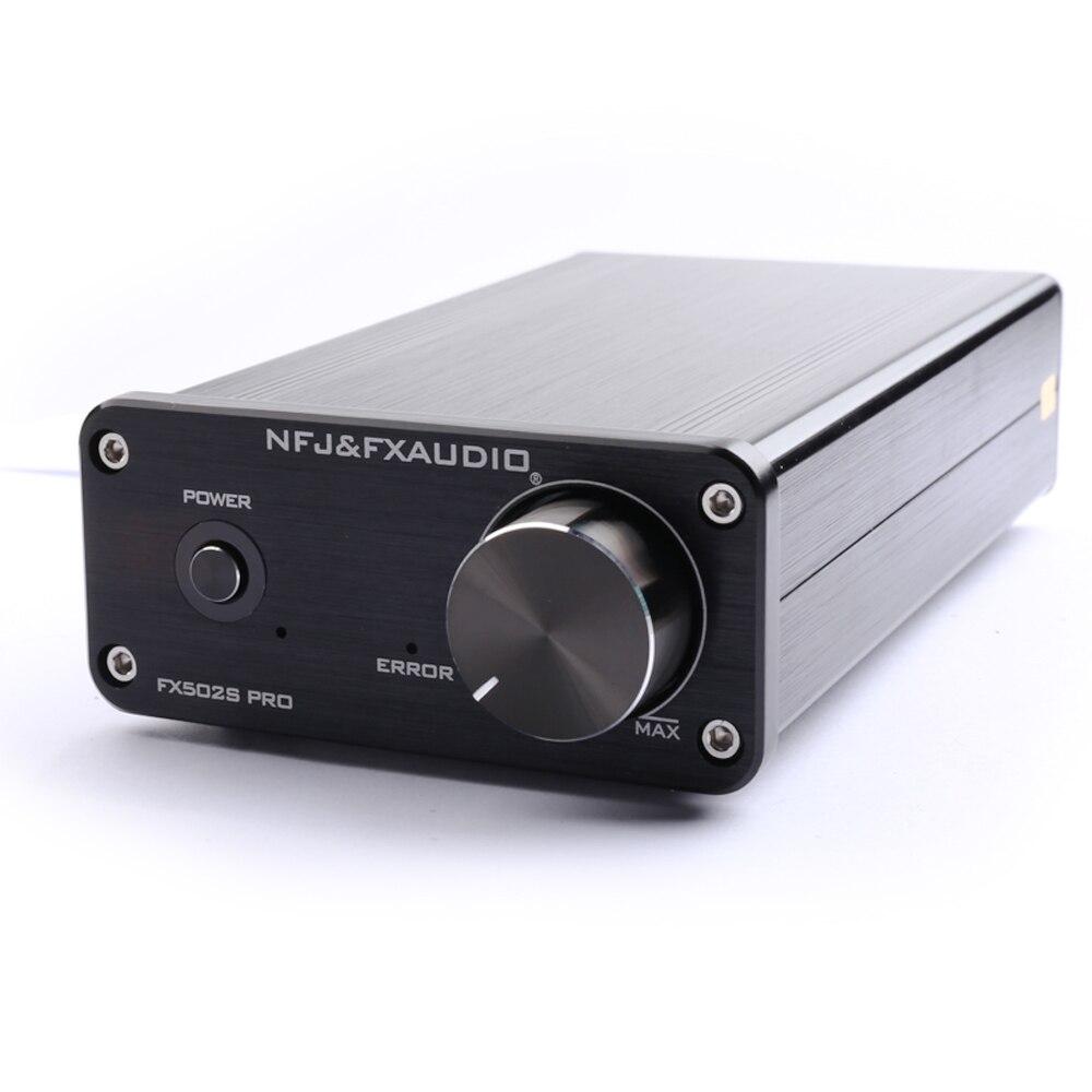 NFJ&FXAUDIO FX502S PRO HIFI 2.0 Audio Digital High Power Amplifier Home Mini Professional Amp TPA3250 NE5532 *2  70W *2